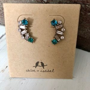Aquamarina Turquoise Earrings Chloe + Isabel